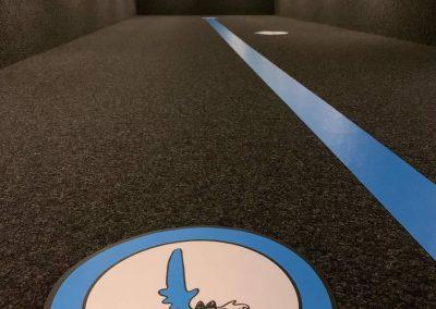Wegeleitsystem Bodenaufkleber Hygieneschutz