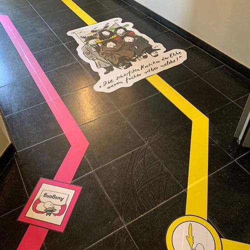 Caricatura Museum Frankfurt – Hygiene-Schutz