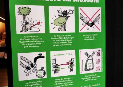 Hygiene-Schutz Corona Informationsschild